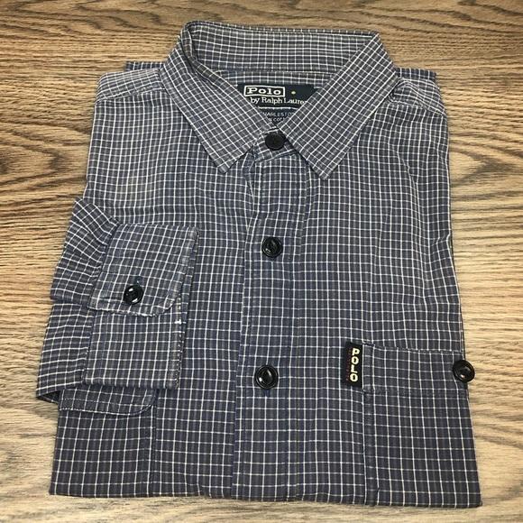 aca81d07a9a8 Polo by Ralph Lauren Shirts | Polo Ralph Lauren Blue W Grey White ...